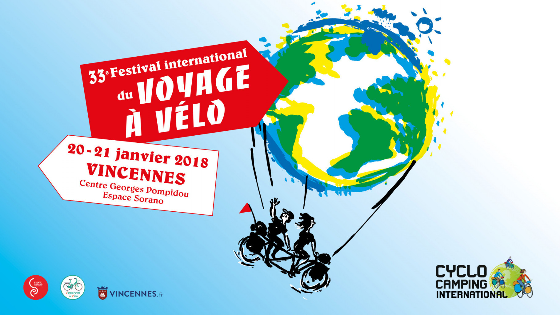 Projection festival cyclo camping international le 21 janvier à 10h30