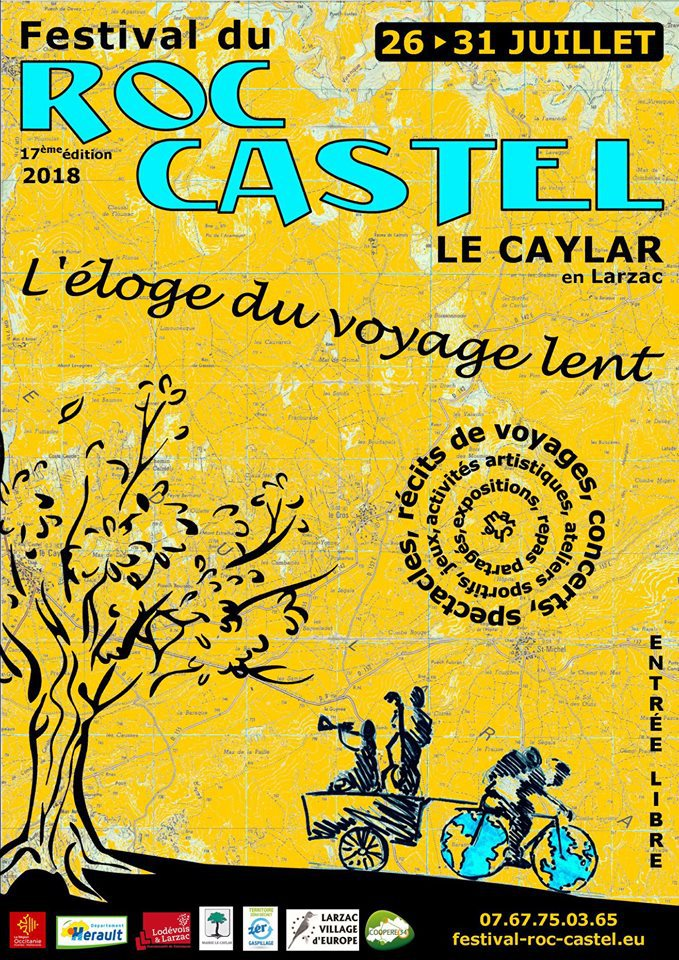 Projection festival du Roc Castel (34) au Caylar le 27 juillet 2018 à 17h30