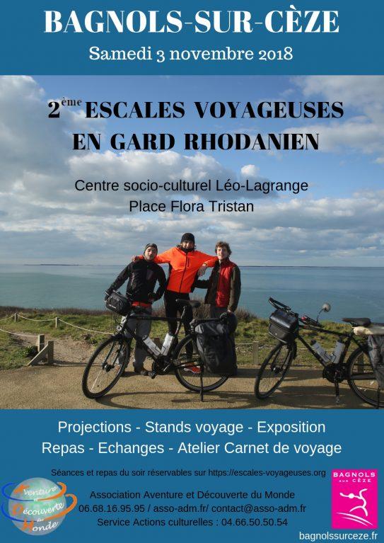 Projection festival Escales Voyageuses en Gard Rhodanien (30) le 3 novembre 2018 à 20h30
