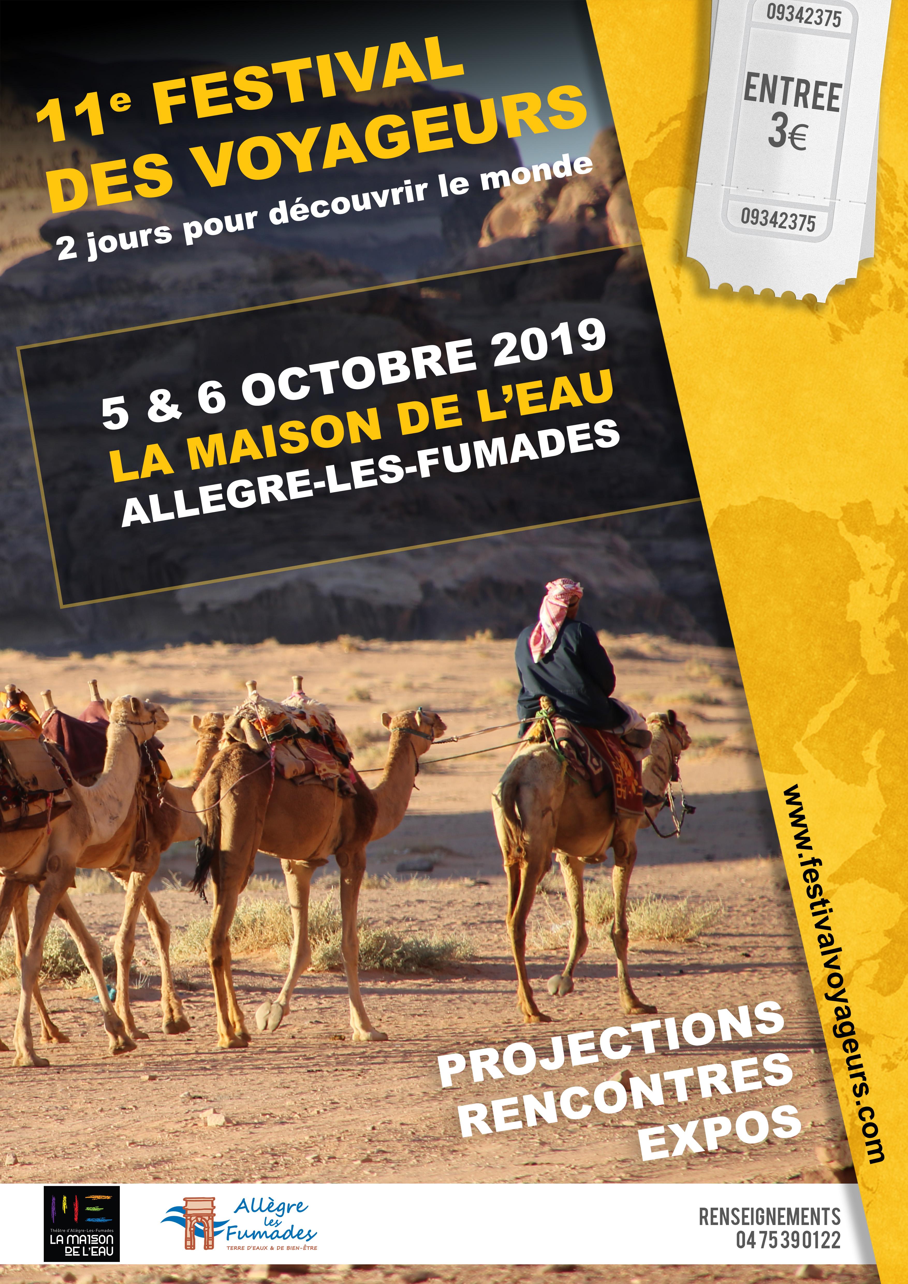 Projection Festival des Voyageurs à Allègre-les-Fumades (30) le 6 octobre 2019 à 16h30